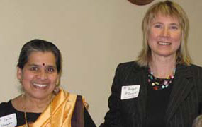 WIC's Dr. Sailaja Harada and Dr. Bridget McDonald with Women's Resource Center Board Members including Marva Bledsoe
